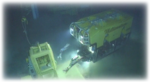 Offshore ROV at Subsea MQC Logic Plate Parking Frame
