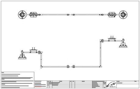 Subsea Production Jumper General Arrangement (GA) Drawing